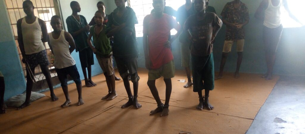 child prisoners Nigeria image